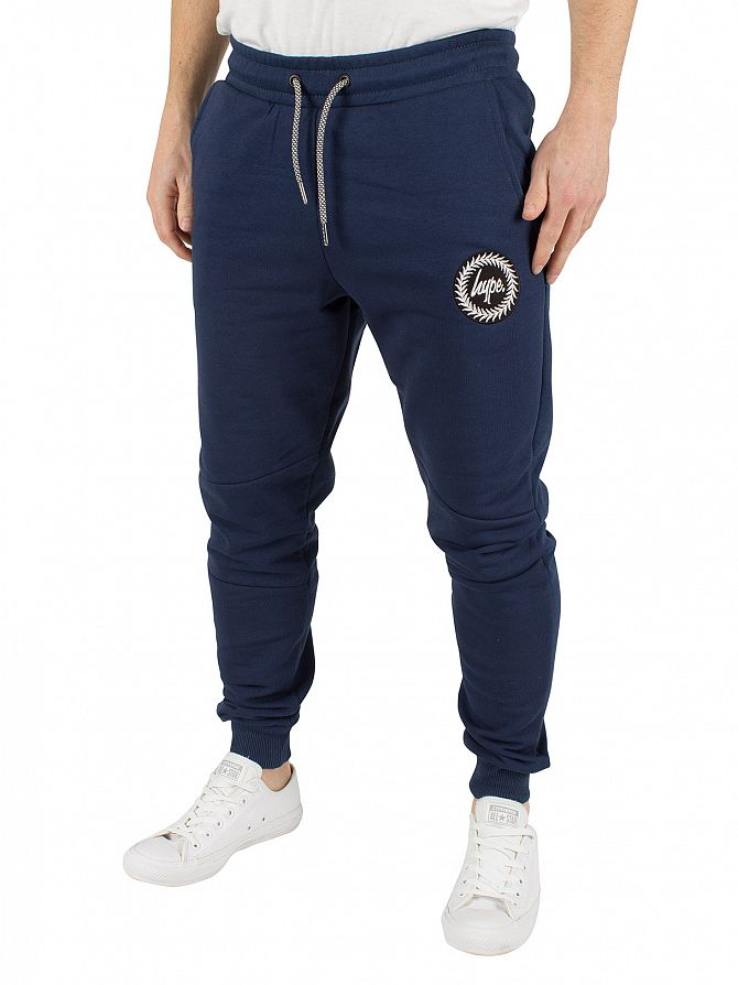 Hype Navy Crest Logo Panelled Joggers