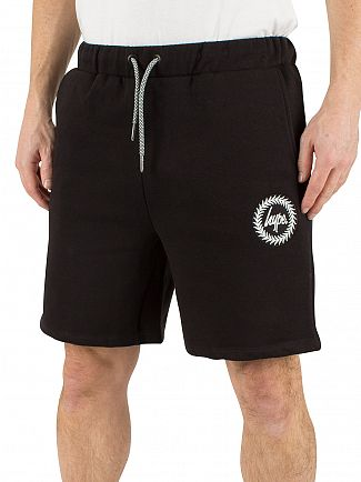 Hype Black Crest Logo Shorts