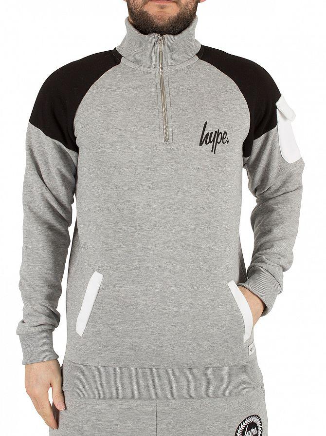 Hype Grey Marl Docker Logo Zip Sweatshirt
