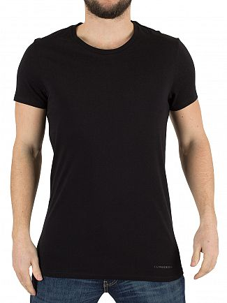 J Lindeberg Black Cody Light Plain Jersey T-Shirt