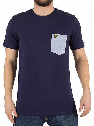Lyle & Scott Navy Contrast Pocket Logo T-Shirt