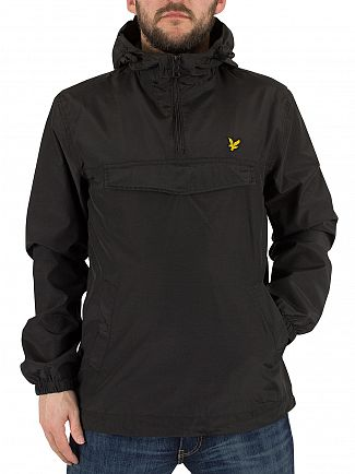 Lyle & Scott True Black Front Pocket Logo Anorak Jacket