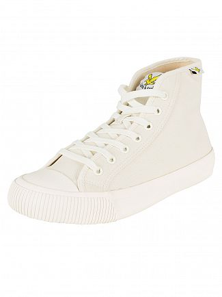 Lyle & Scott Off White Luggie Hi Canvas Trainers