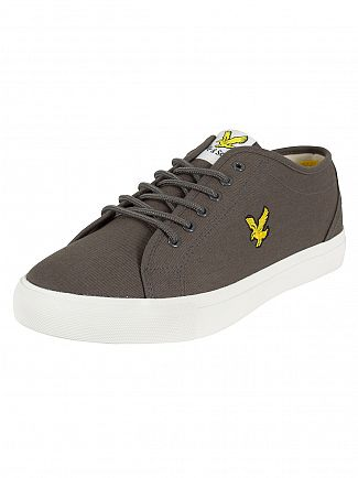 Lyle & Scott Dark Grey Teviot Twill Trainers