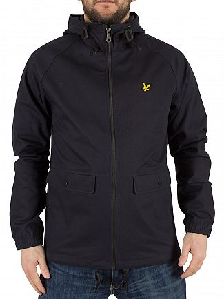 Lyle & Scott Navy Zip Through Logo Jacket