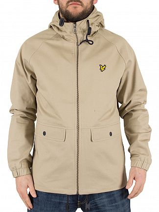 Lyle & Scott Stone Zip Through Logo Jacket