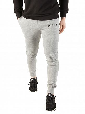 Nicce London Grey Original Logo Joggers