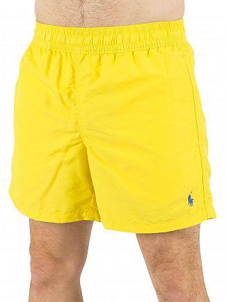 Polo Ralph Lauren Hampton Yellow Hawaiian Logo Swim Shorts