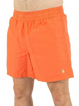 Polo Ralph Lauren Electric Melon Hawaiian Logo Swim Shorts