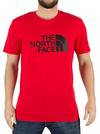 THE NORTH FACE RED EASY GRAPHIC LOGO T-SHIRT