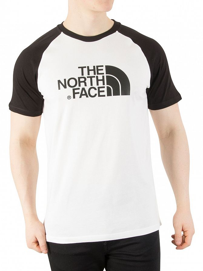 The North Face White/Black Raglan Easy Graphic Logo T-Shirt
