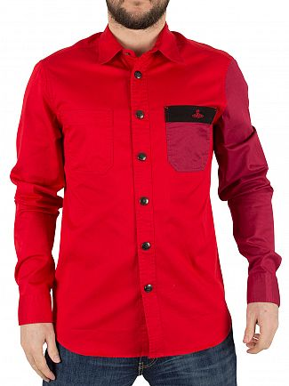 Vivienne Westwood Royal Red Contrast Pocket Shirt
