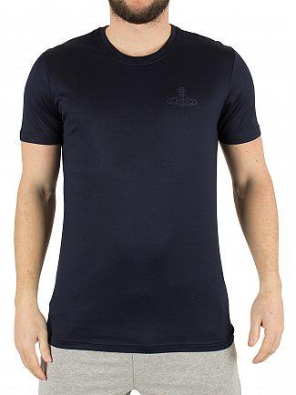 Vivienne Westwood Navy Left Chest Logo T-Shirt