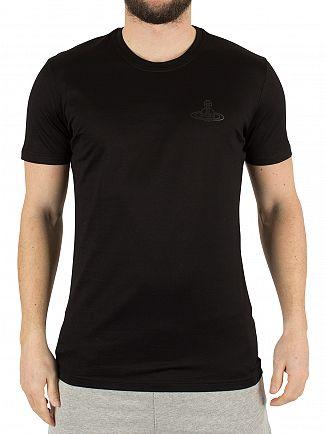 Vivienne Westwood Black Left Chest Logo T-Shirt