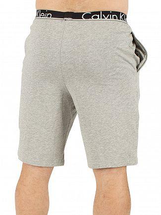 Calvin Klein Grey Heather Logo Waistband Pyjama Shorts
