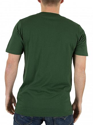 Carhartt WIP Fir Green/White College Logo T-Shirt