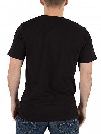 Carhartt WIP Black/White College Script Logo T-Shirt