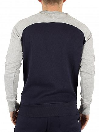 Diesel Navy/Light Grey Marl Casey Raglan Logo Sweatshirt