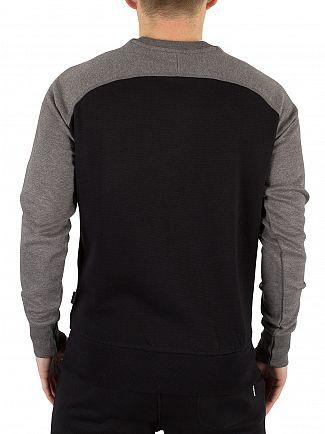 Diesel Mid Grey/Black Casey Raglan Logo Sweatshirt