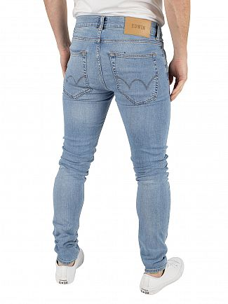 Edwin Light Trip Used ED-85 Slim Tapered Jeans