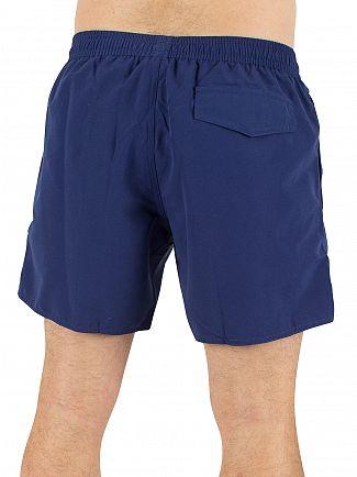 Emporio Armani Blue EA7 Logo Swim Shorts