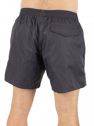 Emporio Armani Anthracite EA7 Vertical Strip Logo Swim Shorts