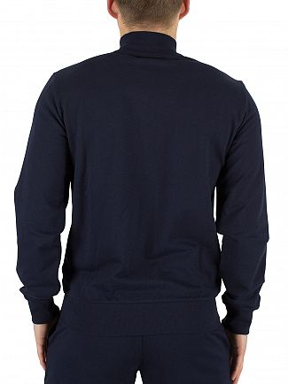 Emporio Armani Blue Left Chest Zip Logo Jacket