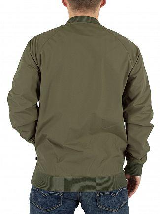 Farah Vintage Military Green Bellinger SNPCF Popper Bomber Jacket