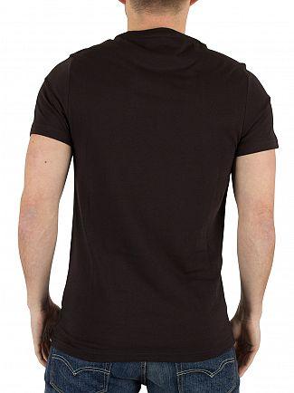 Farah Vintage Black Denny Slim Solid Logo T-Shirt