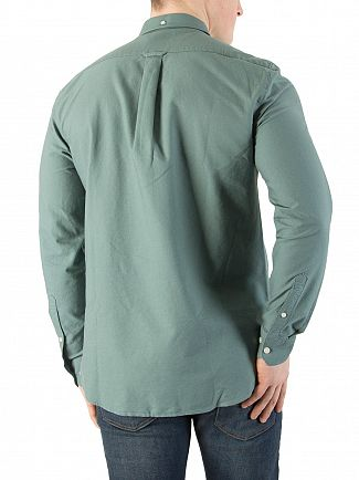 Farah Vintage Sea Green Slim Fit Brewer Logo Shirt