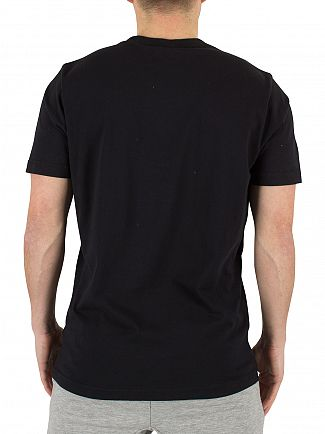 Franklin & Marshall Black Left Chest Logo T-Shirt