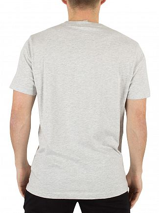 Franklin & Marshall Light Grey Melange Left Chest Logo T-Shirt