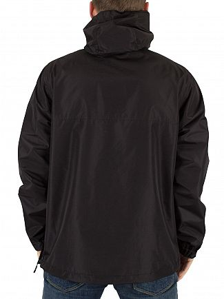 Franklin & Marshall Black Logo Zip Front Pocket Jacket