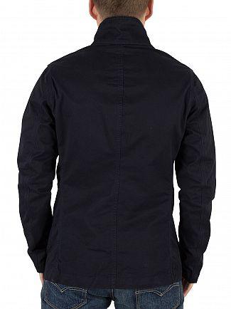 G-Star Dark Police Blue/Mazarine Blue Bronson Blazer Logo Button Jacket