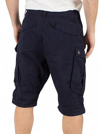 G-Star Dark Police Blue Rovic Loose Fit Cargo Shorts