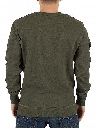 G-Star Dark Shamrock Heather Yster R Texture Graphic Sweatshirt