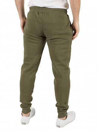 Gym King Burnt Olive Core Fleece Logo Joggers