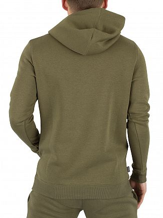 Gym King Burnt Olive Pull Over Logo Hoodie