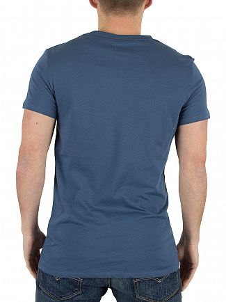 J Lindeberg Blue Cody Light Plain Jersey T-Shirt