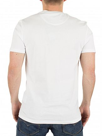 Lyle & Scott White Contrast Pocket Logo T-Shirt