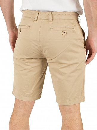 Lyle & Scott Stone Garment Dye Logo Chino Shorts
