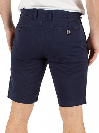 Lyle & Scott Navy Garment Dye Logo Chino Shorts