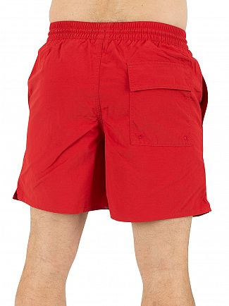 Lyle & Scott Racing Red Plain Logo Swim Shorts