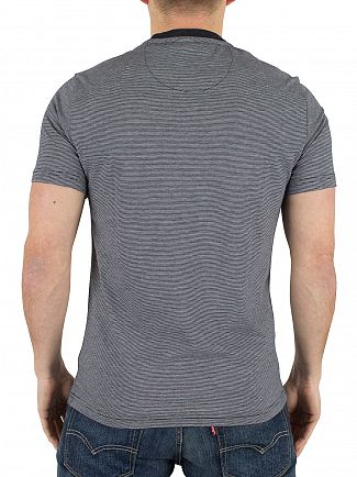Original Penguin Dark Sapphire Feeder Striped Logo Pocket T-Shirt