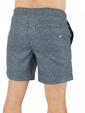 Original Penguin Dark Sapphire Floral Elastic Volley Logo Swimshorts