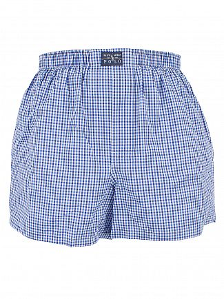 Polo Ralph Lauren Pink/Navy/Check 3 Pack Woven Classic Trunks