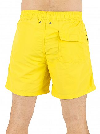 Polo Ralph Lauren Hampton Yellow Hawaiian Logo Swim Shorts