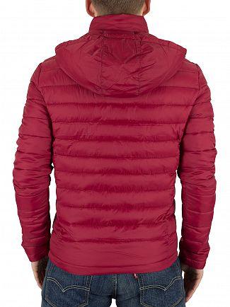 Superdry Burnt Red Fuji Double Zip Puffa Jacket