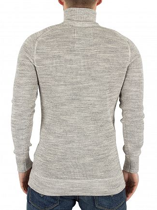 Superdry Limestone Grindle Gymnasium Textured Henley Knit
