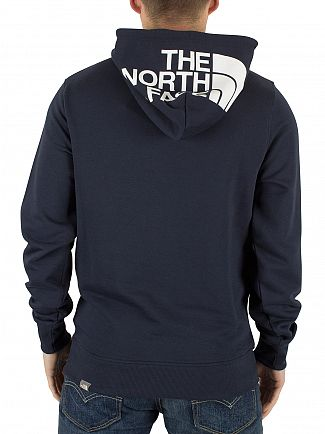 The North Face Urban Navy Drew Peak Chest Logo Hoodie